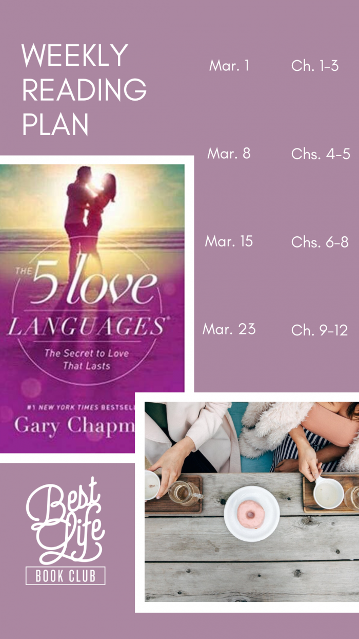 Best Life Book Club's Four-Week Reading Plan for The 5 Love Languages by Gary Chapman