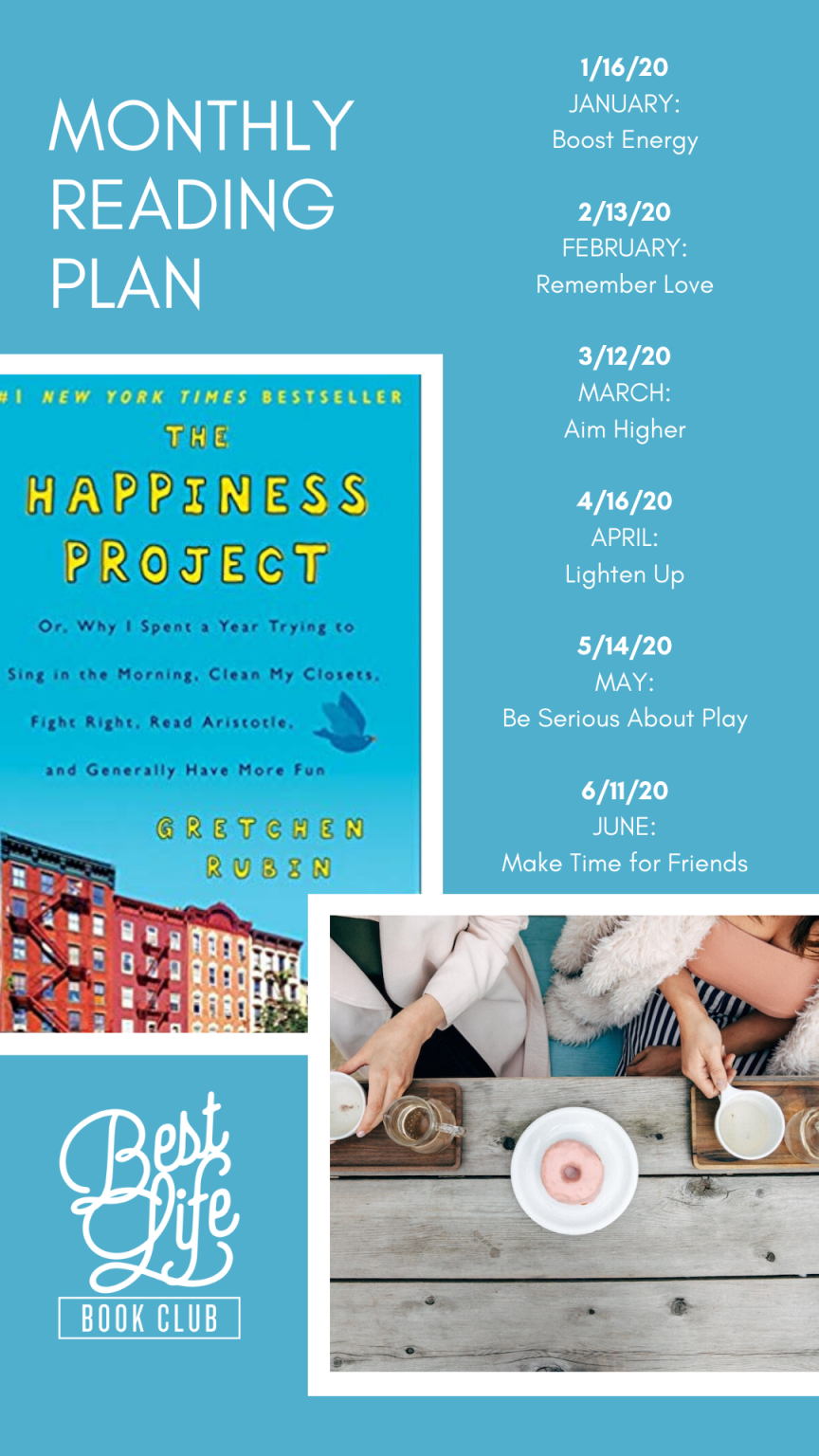 Reading Plan for The Happiness Project by Gretchen Rubin | Best Life Book Club