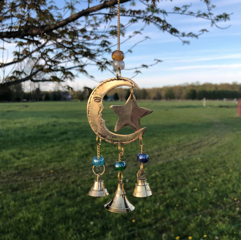 Star and Moon Wind Chim by Moon Flower Gifts Shop on Etsy