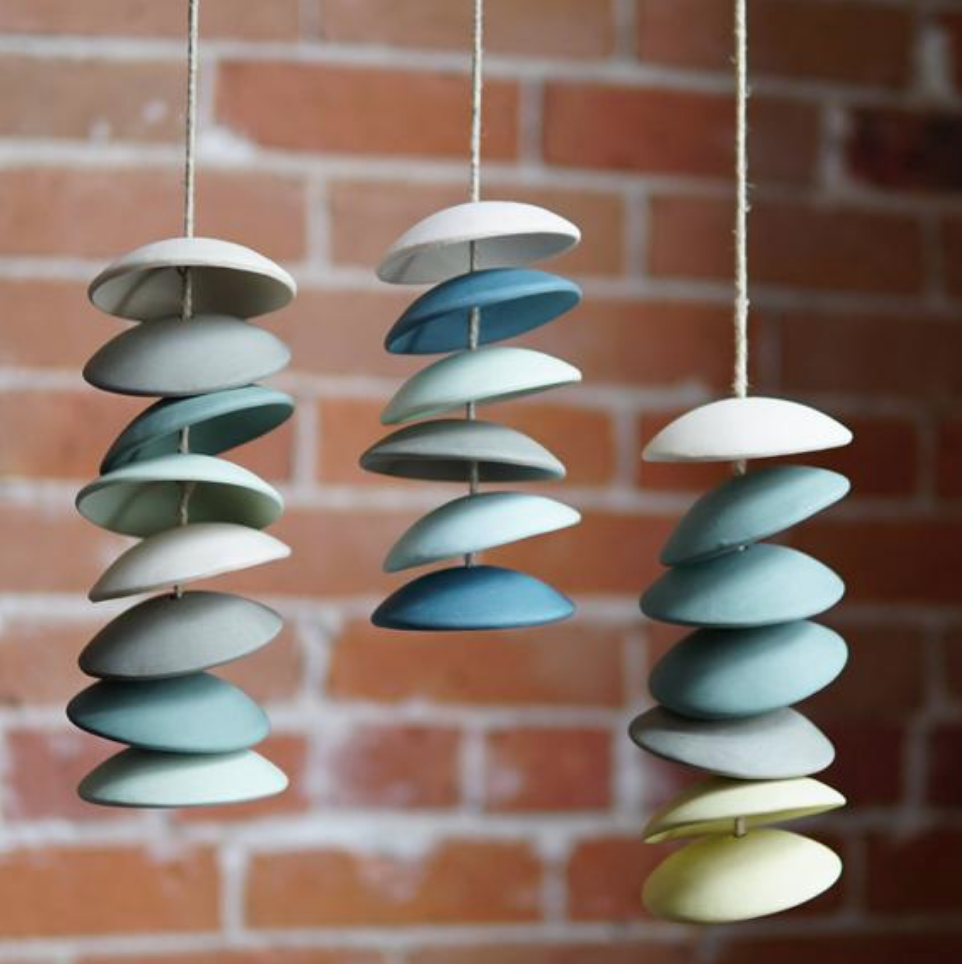 Ceramic wind chimes by Fettle and Fire on Etsy