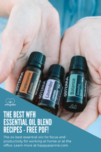 | The Best Work From Home Essential Oil Blend Recipes for Productivity - FREE PDF. Productivity can be tough when you're working from home. What's one of my favorite ways to set the mood for productivity? Essential oils. Here are the 6 best essential oils for productivity. Also in this post, a free PDF of my favorite essential oil blend recipes for your diffuser! #essentialoils #essentialoilblends #essentialoilrecipes