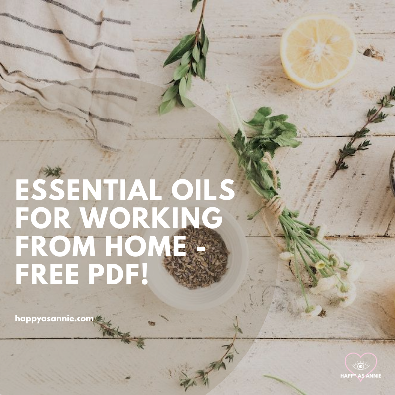 Essential Oils for Productivity - The Best Essential Oils and Blends for Working From Home, plus a free PDF of recipes! | Happy As Annie