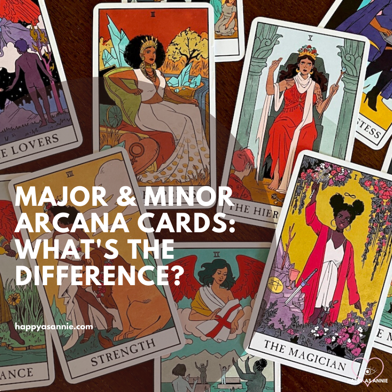 What's the Difference Between the Major & Minor Arcana Cards in Tarot? | Happy As Annie
