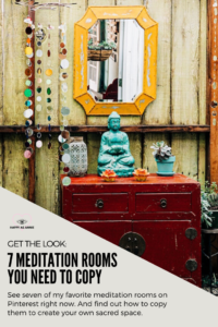 Happy As Annie | Get the Look: 7 Meditation Rooms from Pinterest You Need to Copy. An entire room devoted to distraction-free meditation? Sounds like a dream! This post features seven of my favorite meditation rooms on Pinterest right now. Find out how to copy them to create your own meditation room, nook, or corner. #meditation #meditationroom #meditationspace #meditationroomdecor #meditationroomideas