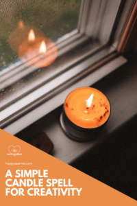 Happy As Annie | A Simple Candle Spell for Creativity.  Facing a creative block? In desperate need of some inspiration?Try this simple yet potent candle spell for creativity. Cast it when you need to summon the muses and receive some creative inspiration. #candlemagic #candlemagick #witchythings #creativityspell #witchcraft