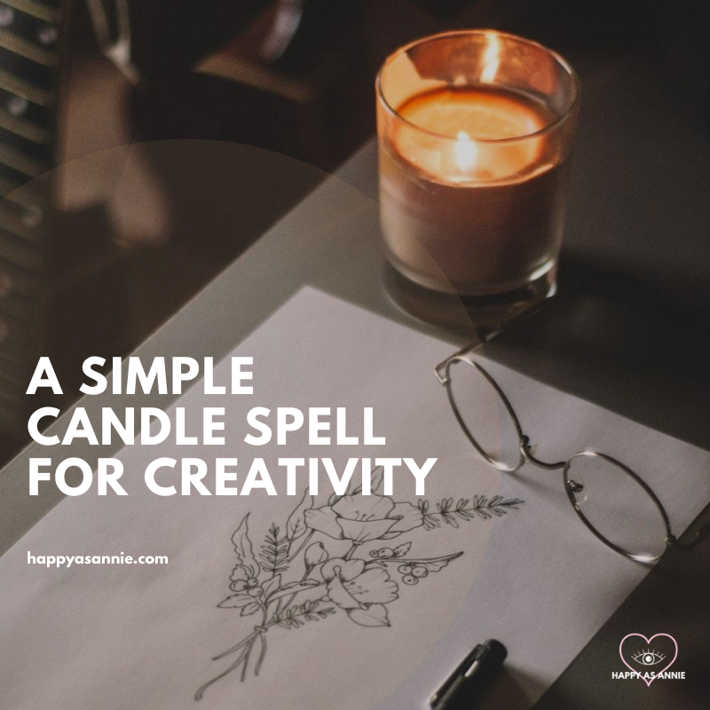A Simple Candle Spell for Creativity | Happy As Annie. Creativity spell, candle magick for creative inspiration