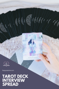 Happy As Annie | Tarot Deck Interview Spread to help get to know a new tarot deck. Use the simple three-card spread I created for interviewing a new tarot deck or an old one you've disconnected with and want to start using again. #tarotreader #tarotcards #tarot #tarotspreads #tarotspread