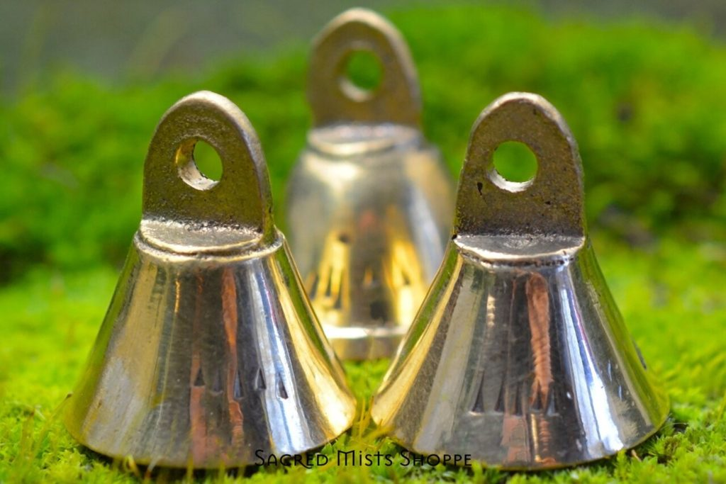 Small Brass Hand Bells by Sacred Mists Shoppe on Etsy