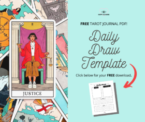 Get a FREE Daily Draw Tarot Journal Template by Happy As Annie