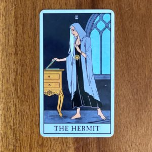 If your numerology birth number is nine, your tarot birth card - or tarot life card - is the Hermit.