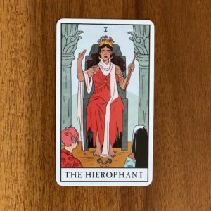 If your numerology birth number is five, your tarot birth card - or tarot life card - is the Hierophant.