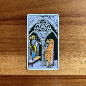 3 of Pentacles Tarot card in the Rider-Waite-Smith tarot deck
