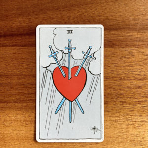 3 of Swords Tarot Card in the Rider-Waite-Smith tarot deck
