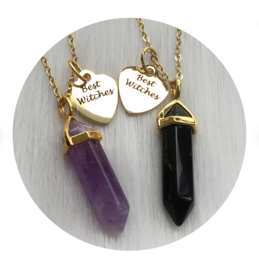 Best Witches crystal friendship necklaces by Lotus Fairy on Etsy on The Ultimate Witchy Gift Guide by Happy As Annie
