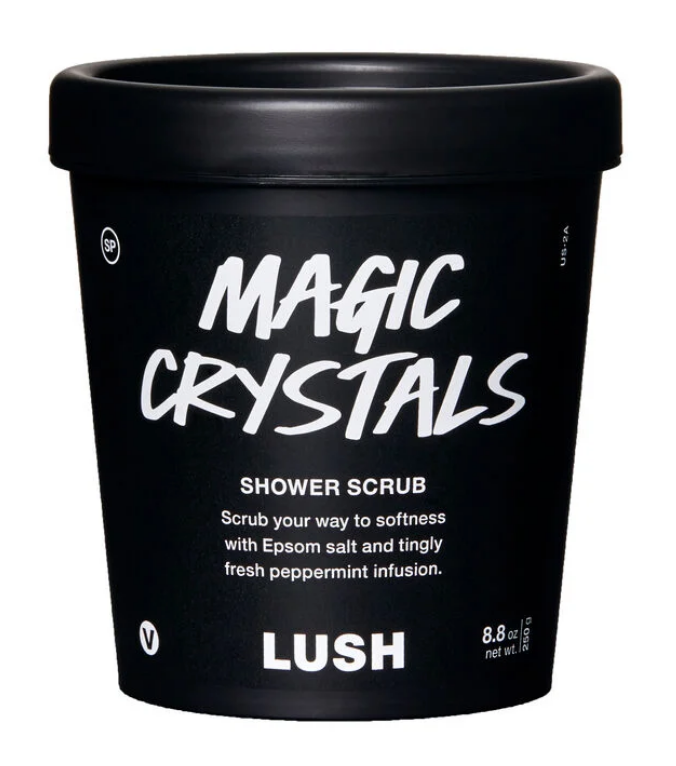 Magic Crystals shower scrub by Lush on The Ultimate Witchy Gift Guide by Happy As Annie