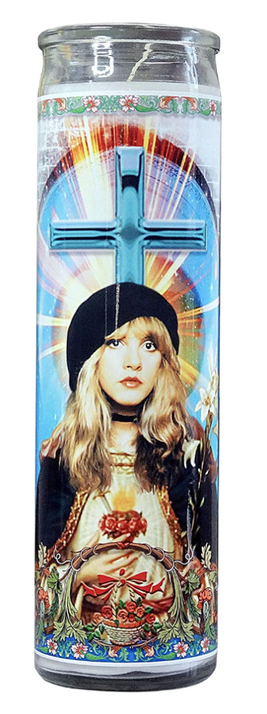 Stevie Nicks celebrity prayer candle on The Ultimate Witchy Gift Guide by Happy As Annie