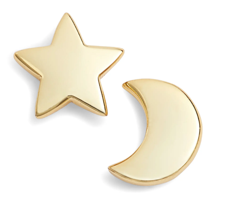 Argento Vivo moon and star stud earrings on The Ultimate Witchy Gift Guide by Happy As Annie