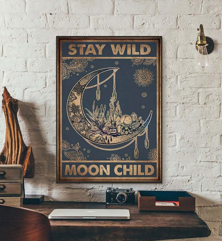 Stay Wild Moon Child framed canvas by Briannes Hannah on Etsy on The Ultimate Witchy Gift Guide by Happy As Annie