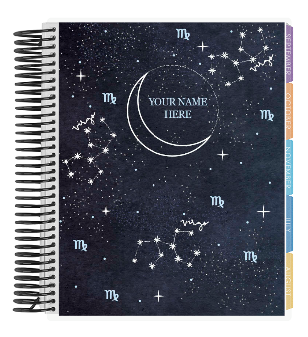 Erin Condren Life Planner with Personalized Zodiac Cover on The Ultimate Witchy Gift Guide by Happy As Annie