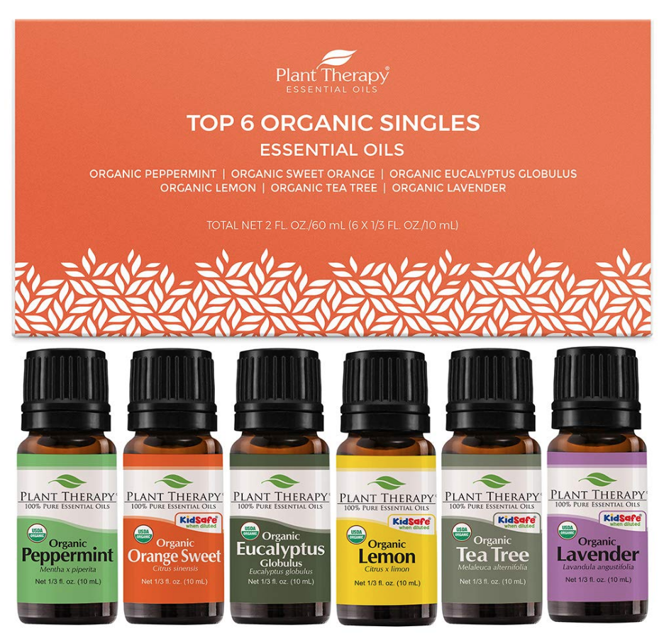 Plant Therapy Top 6 Organic Singles essential oils kit on The Ultimate Witchy Gift Guide by Happy As Annie