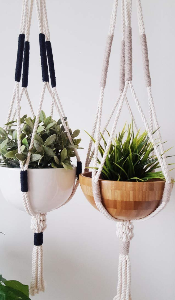Handmade macrame plant hanger on The Ultimate Witchy Gift Guide by Happy As Annie