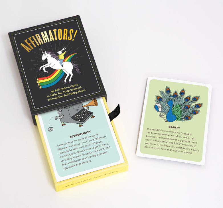 Affirmators! Deck of 50 Affirmation Cards on The Ultimate Witchy Gift Guide by Happy As Annie