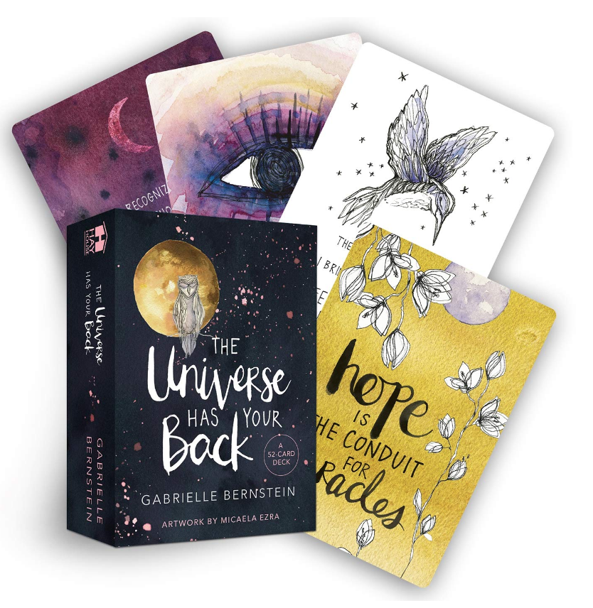 The Universe Has Your Back: Transform Fear to Faith cards by Gabrielle Bernstein on The Ultimate Witchy Gift Guide by Happy As Annie
