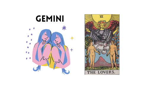Tarot and Astrology Correspondence - Gemini and Lovers