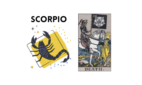 Tarot and Astrology Correspondence - Scorpio and Death