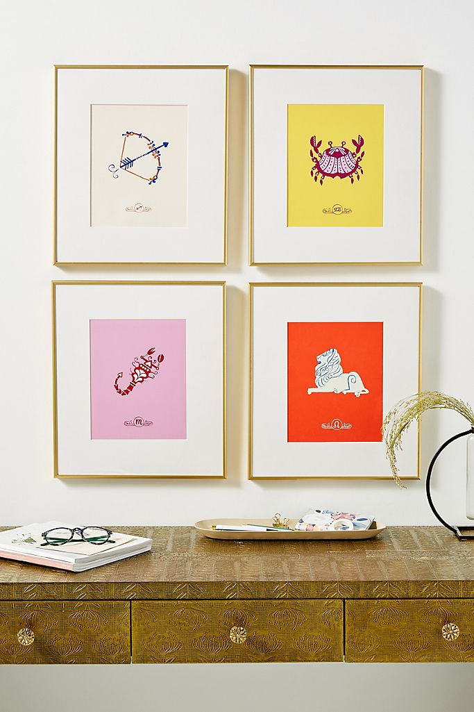 Zodiacs wall art on The Ultimate Witchy Gift Guide by Happy As Annie