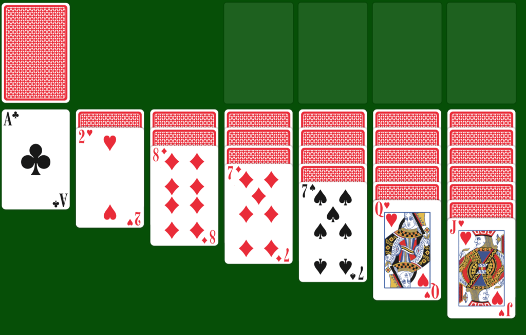 Setup for Game of Solitaire by Soliatired.com