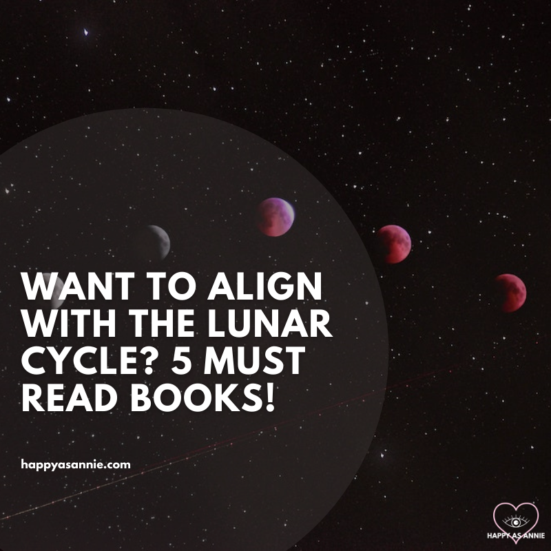 5 Must-Read Books to Help You Align with the Lunar Cycle by Happy As Annie. How long is the lunar cycle, and what are the moon phases? How the moon cycle works to bring powerful magic and rituals into our lives.