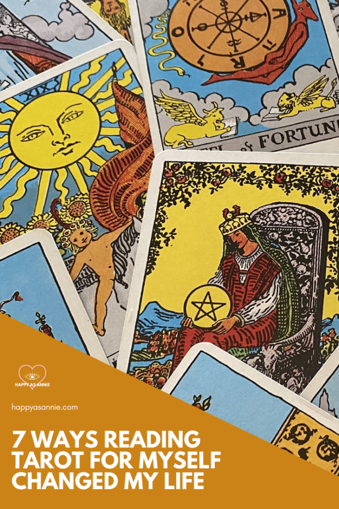 Thinking about learning to read tarot? Reading tarot cards for yourself is an invaluable journey to self-discovery and connecting with your intuition. My life changed in so many wonderful ways - both big and small - when I started working with tarot. Reading tarot cards has helped me process my emotions more effectively, make more aligned life decisions, and more. #learntarot #tarotforyourself #readtarotcards