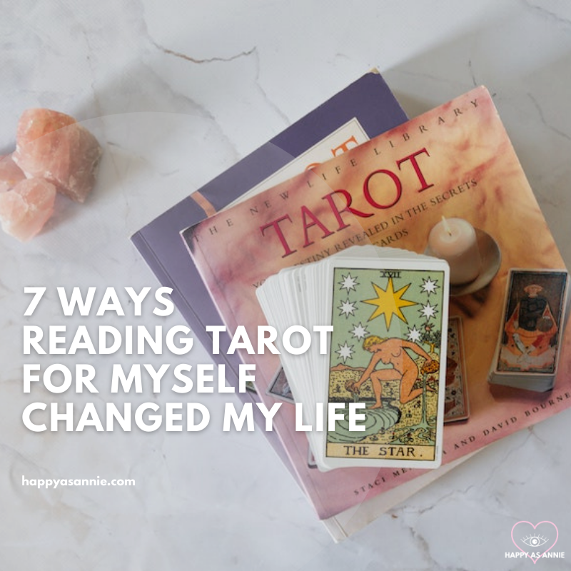 7 Ways Reading Tarot for Myself Changed My Life | Happy As Annie. Thinking about learning to read tarot? Reading tarot cards for yourself is an invaluable journey to self-discovery and connecting with your intuition.