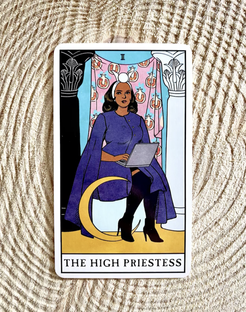 High Priestess tarot card in Modern Witch Tarot Deck by Lisa Sterle