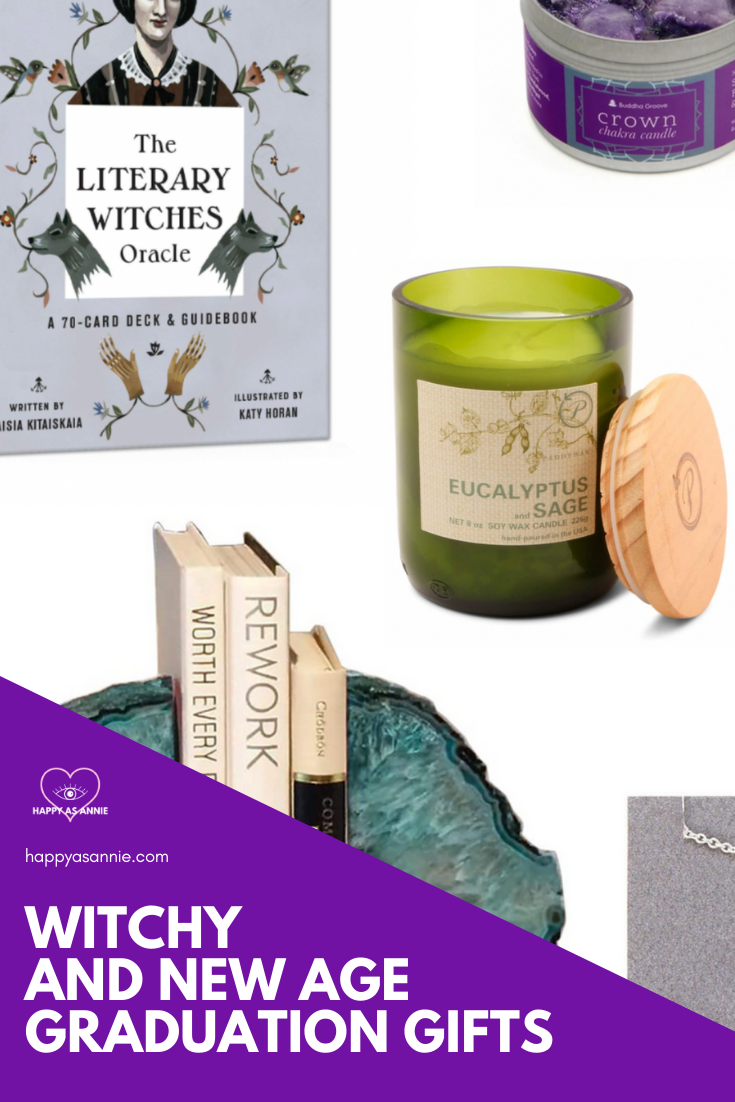 What do you get for the witchy grad in your life? This epic witchy graduation gift guide contains 30 witchy gift ideas that are perfect for the new age loving woo-woo graduate, your occult-loving witch graduate, and even your vaguely spiritual graduate friends and family members. #graduationgiftguide #graduationgifts #gradgifts #graduationgiftsforher #witchygifts #newagegifts