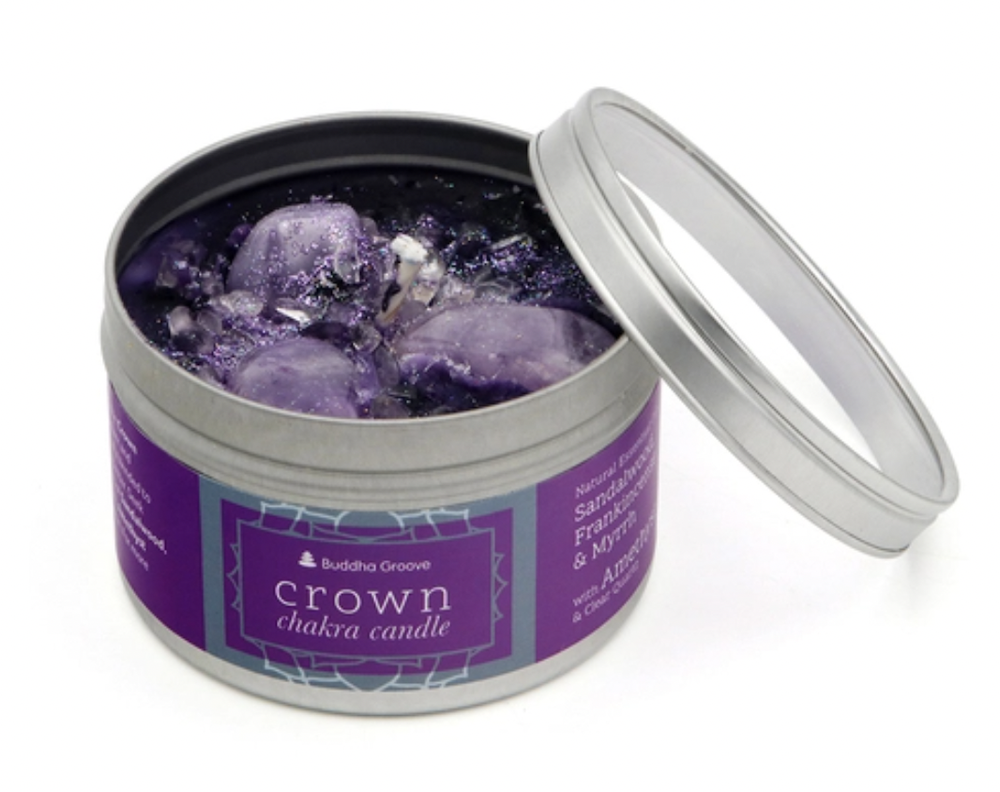 Crown Chakra Candle by Buddha Groove | The Ultimate Graduation Gift Guide for the New Age Witchy Grad by Happy As Annie