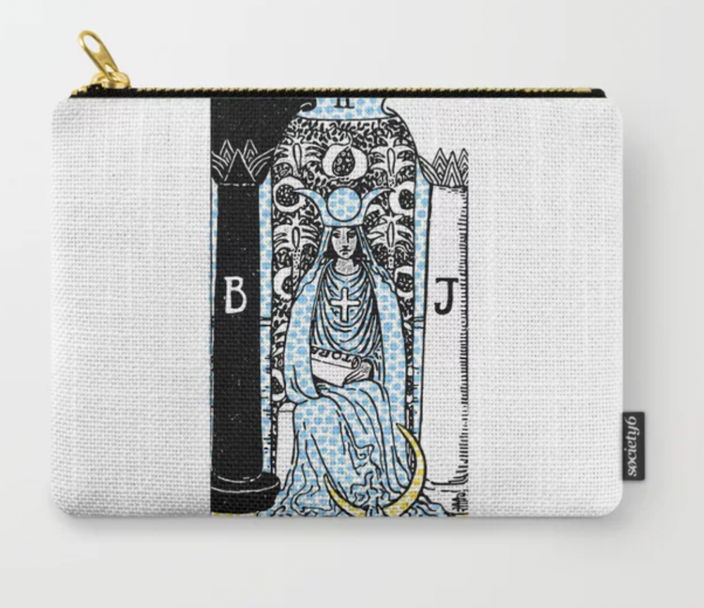 High Priestess Tarot Carry-All Pouch from Society 6 | The Ultimate Graduation Gift Guide for the New Age Witchy Grad by Happy As Annie