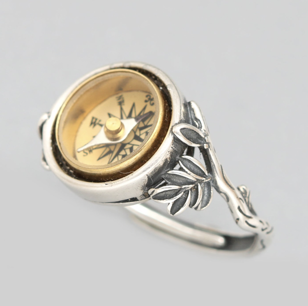 Vintage Compass Ring by Designs Bloom on Etsy | The Ultimate Graduation Gift Guide for the New Age Witchy Grad by Happy As Annie