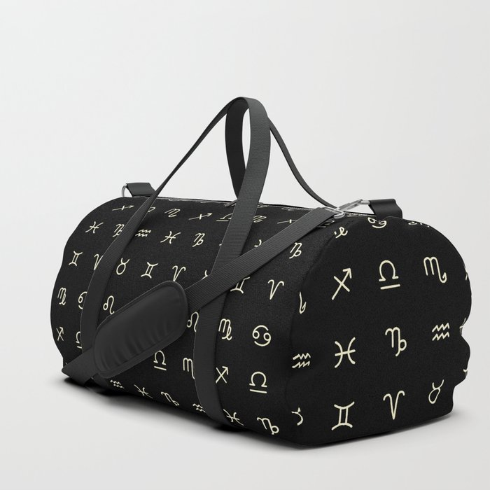 GradGifts_Zodiac Symbol Duffel Bag from Society 6 | The Ultimate Graduation Gift Guide for the New Age Witchy Grad by Happy As Annie