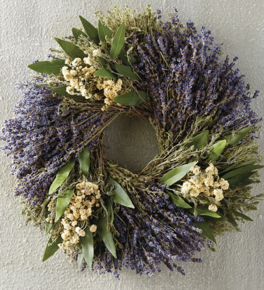 Lavender Herb Wreath by Harry & David | The Ultimate Graduation Gift Guide for the New Age Witchy Grad by Happy As Annie